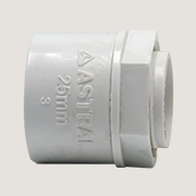CORRUGATED FLEXIBLE CONDUIT GLAND - WHITE