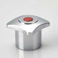 FANCY HANDLE (KNOB) WITH RED & BLUE PLASTIC BUTTON (SQUARE)