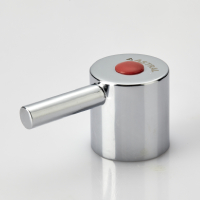 FANCY HANDLE (KNOB) WITH RED & BLUE PLASTIC BUTTON (ROUND)