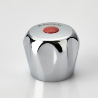 FANCY HANDLE (KNOB) WITH RED & BLUE PLASTIC BUTTON (FLOWER)