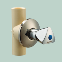 CONCEALED VALVE (CHROME PLATED) (TRIANGLE)