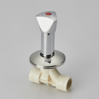 CONCEALED VALVE SWEPT TYPE (CHROME PLATED TRIANGLE)