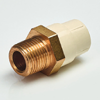 REDUCING MALE ADAPTOR (BRASS THREADS)
